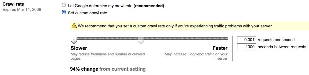 Slowng googlebot